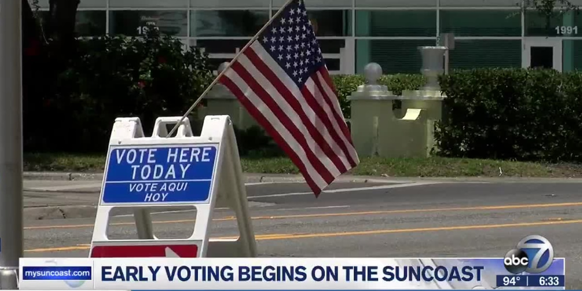 Early voting begins on the Suncoast