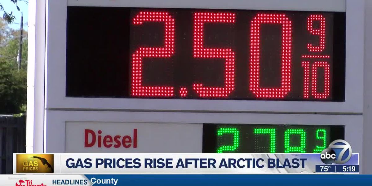 Gas prices rise after Arctic blast