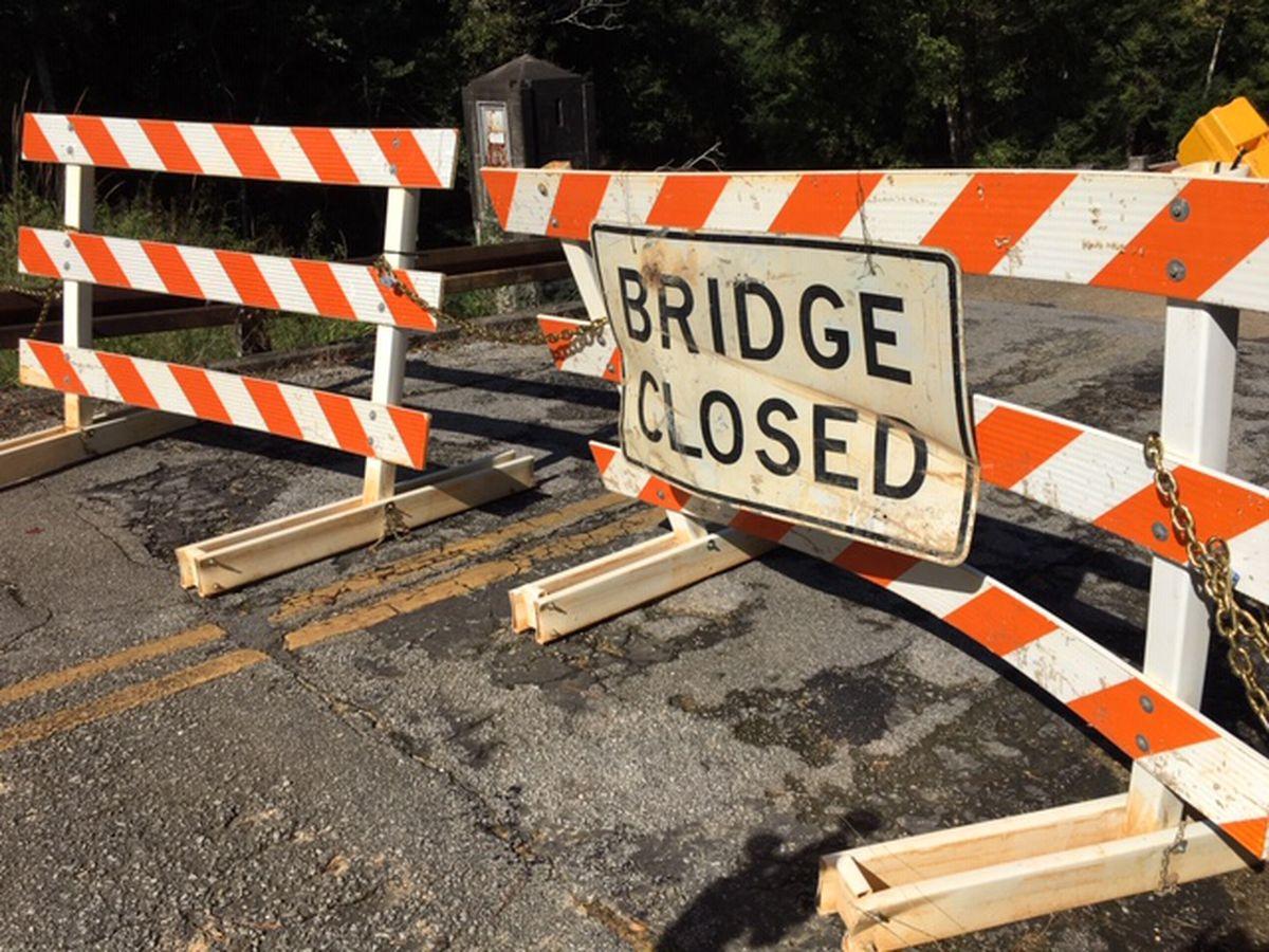 Oyster Creek Environmental Park Bridge Closed