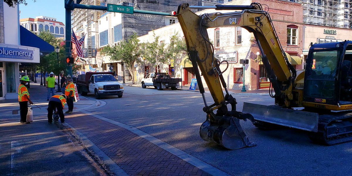 Construction underway on busy downtown Sarasota intersection