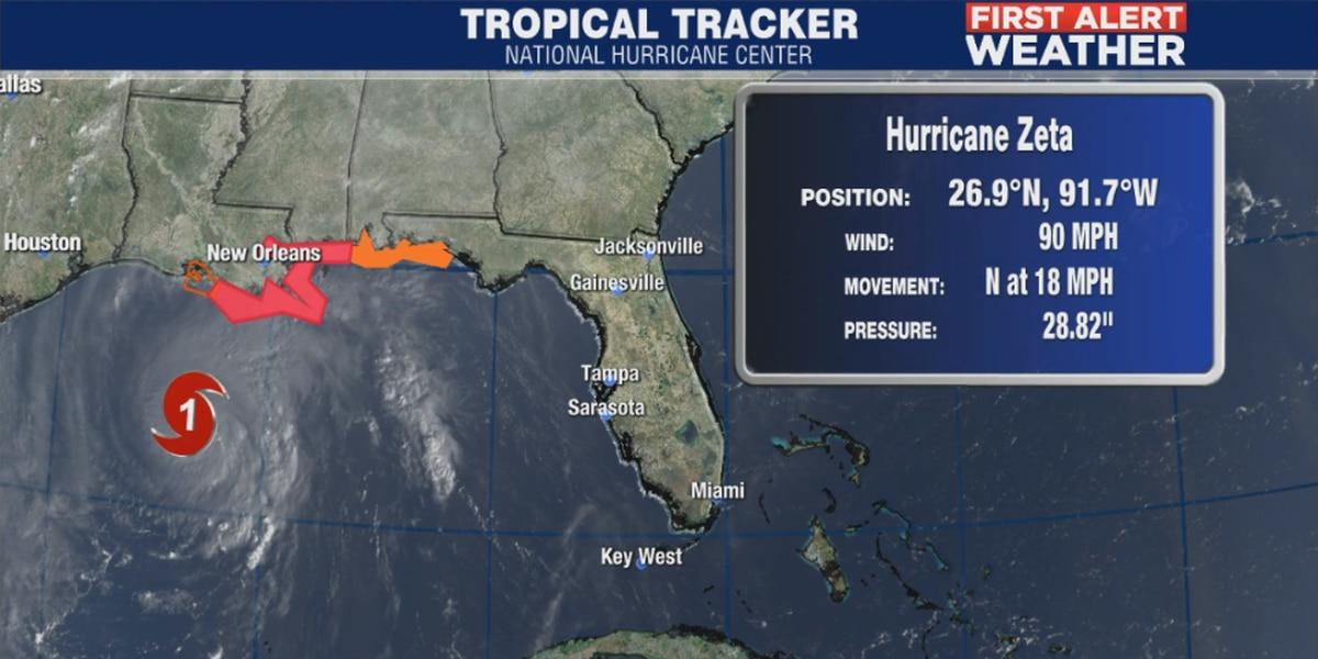 Hurricane Zeta heading toward landfall in Louisiana