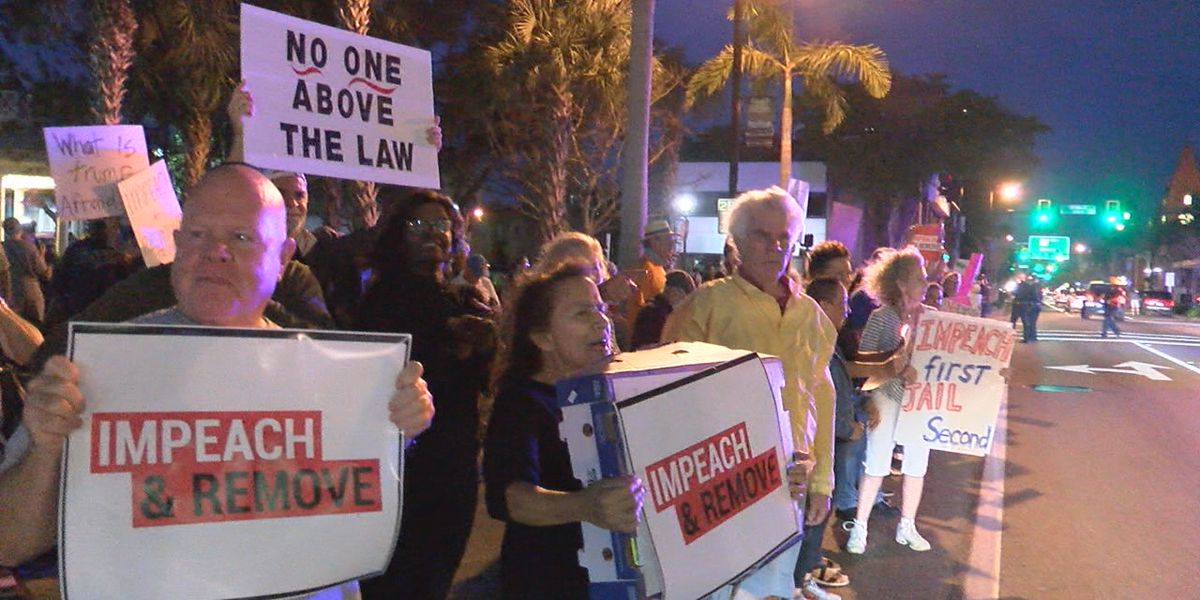 Rallies on the Suncoast ahead of Wednesday's impeachment vote in Congress against President Donald Trump