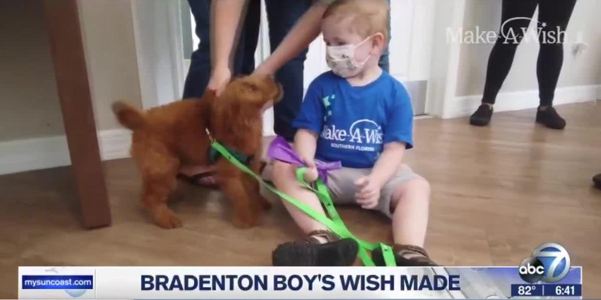 "A Bradenton boy's wish granted my ""Make-A-Wish"" Foundation"