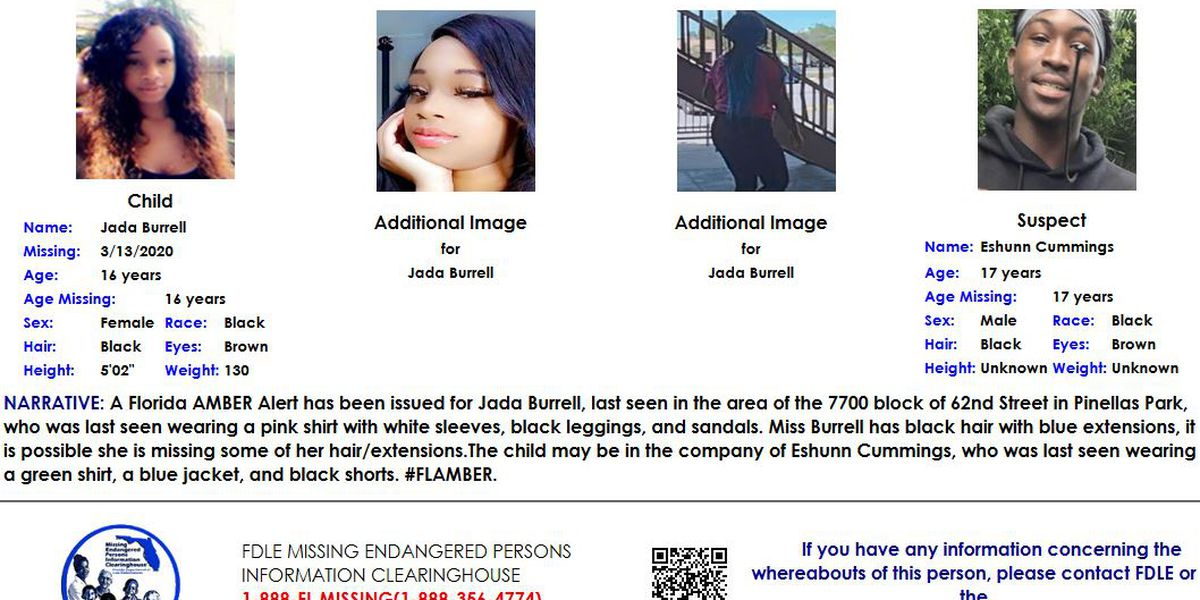 AMBER Alert canceled for 16-year-old girl in Pinellas County