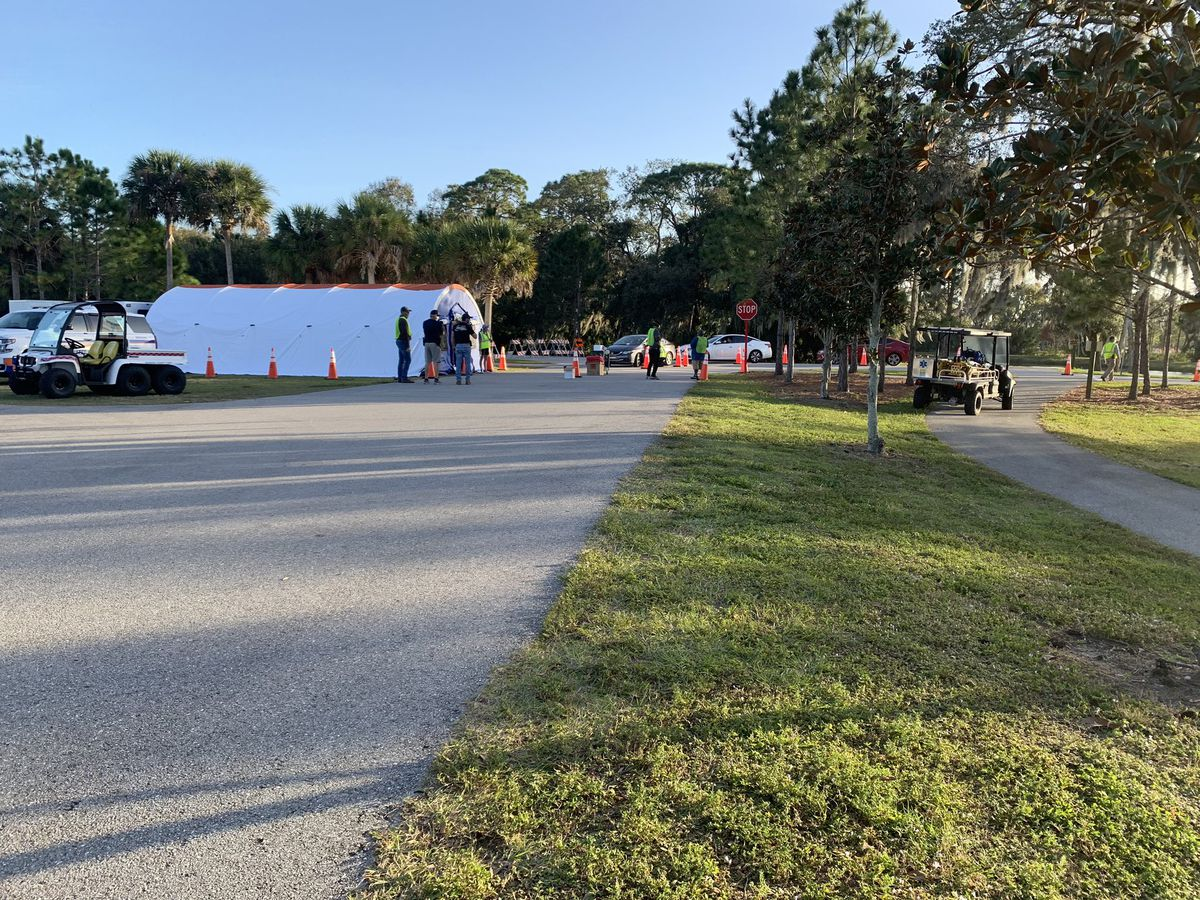 Walk-up vaccine event today at Tom Bennett Park
