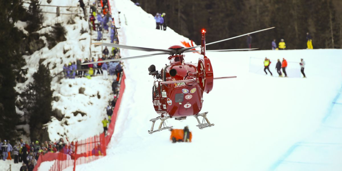 Gisin flown to hospital after crashing in World Cup downhill
