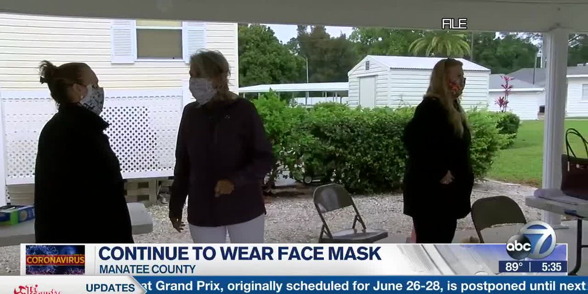 DOH-Manatee urging people to continue wearing face coverings while in the public