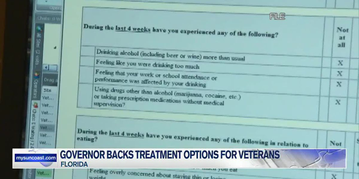 Governor backs treatment options for veterans