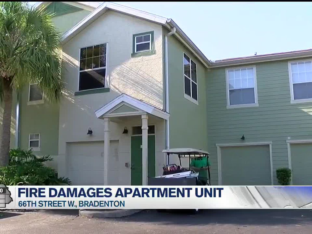 Multiple families in Bradenton temporarily without their homes after a fire that happened on Thursday evening