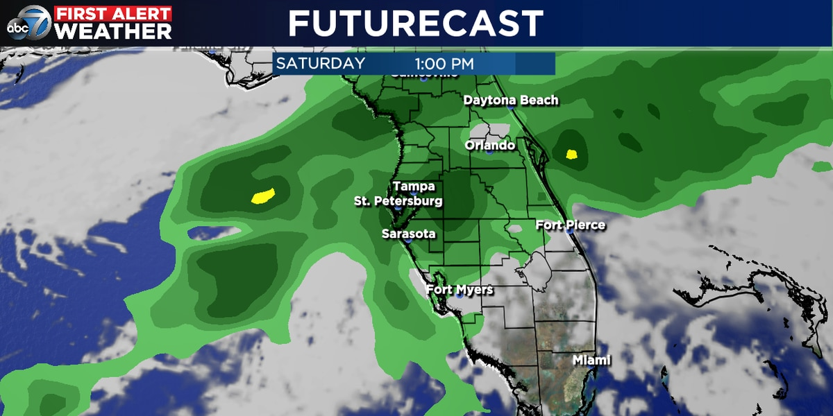 Rain likely as we move into the weekend