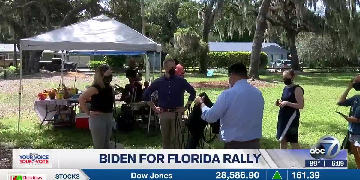 Suncoast residents gather at Martin Luther King Park in support of Biden for Florida