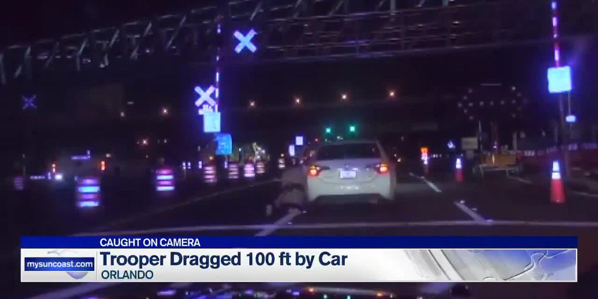 Trooper dragged 100 ft. by car
