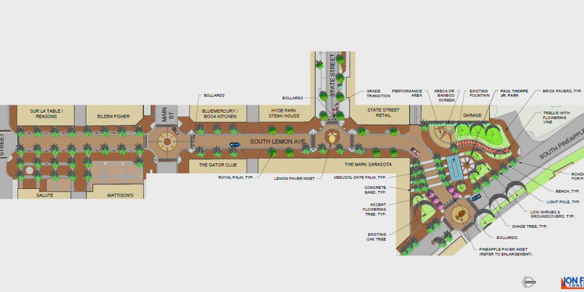City of Sarasota Pushes Back the Lemon Avenue Redesign Project Start Date Until After Busy Season