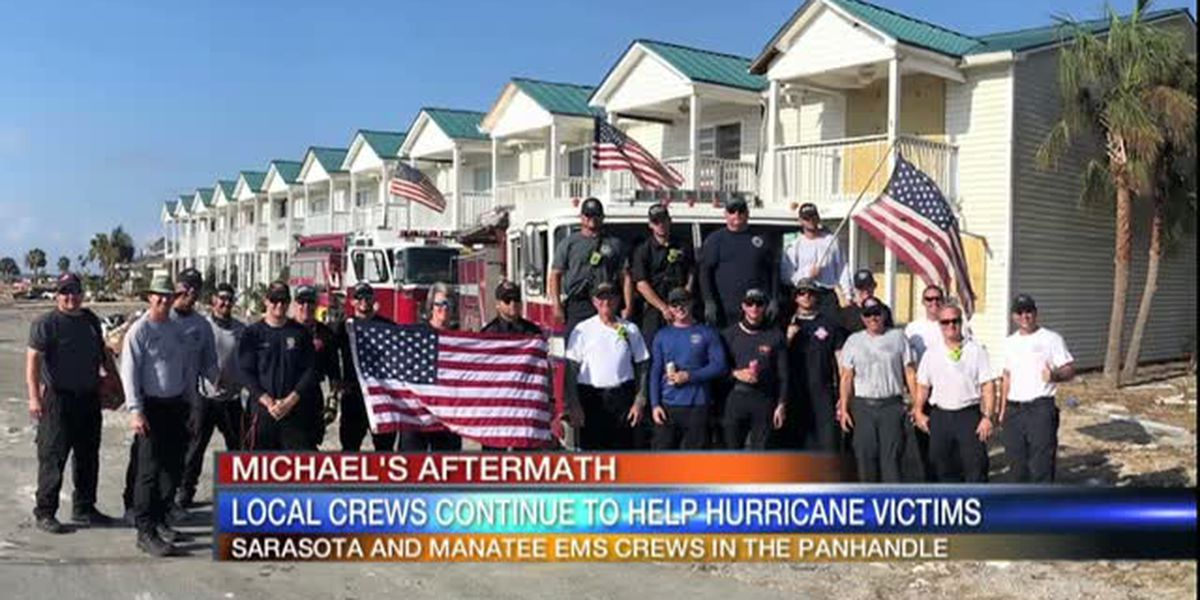 Video: Local Crews Continue to help Hurricane Victims 6am October 17,2018