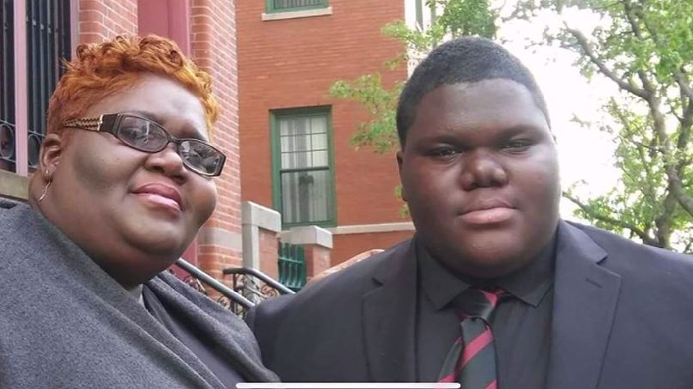 Dylan Chidick, 17, says his mother, Khadine Phillip, inspired him and made him determined to succeed through her courage. (Source: Family photo/WCBS/CNN)