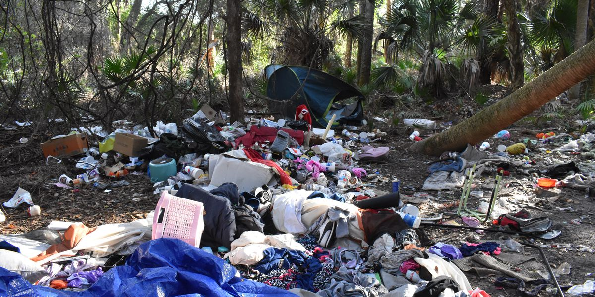 Where did the homeless in North Port go?