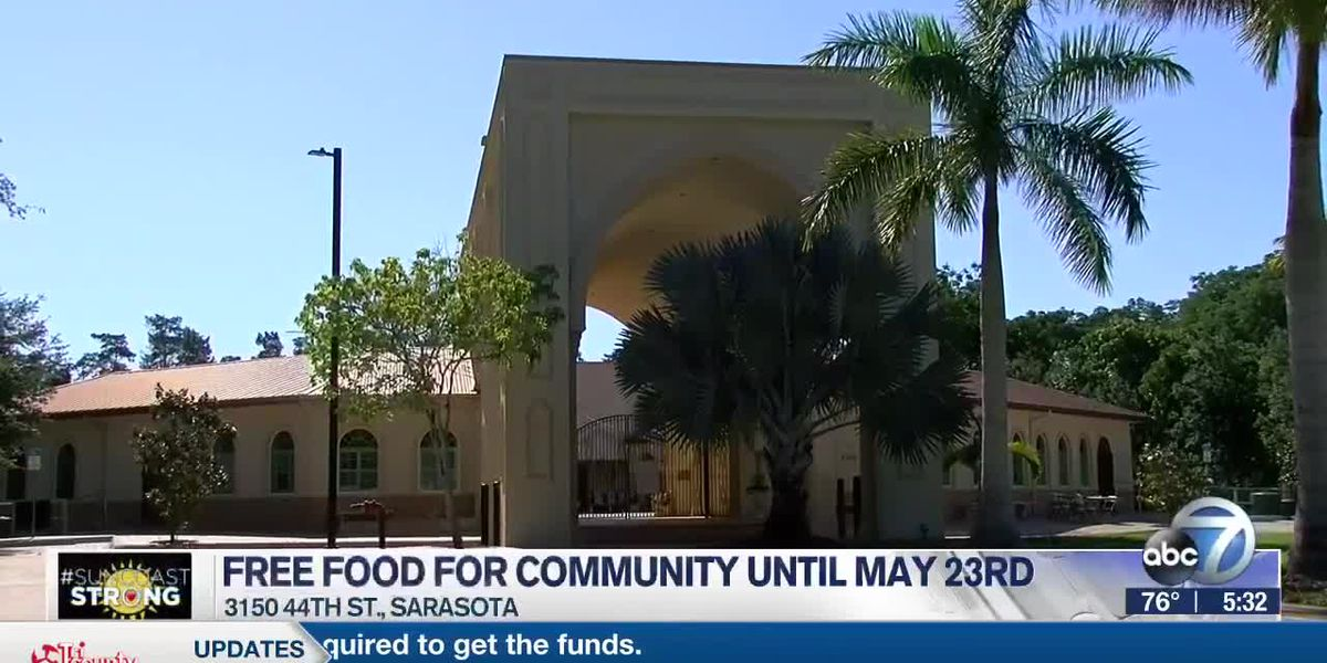 Islamic Society of Sarasota and Bradenton passing out free food until May 23