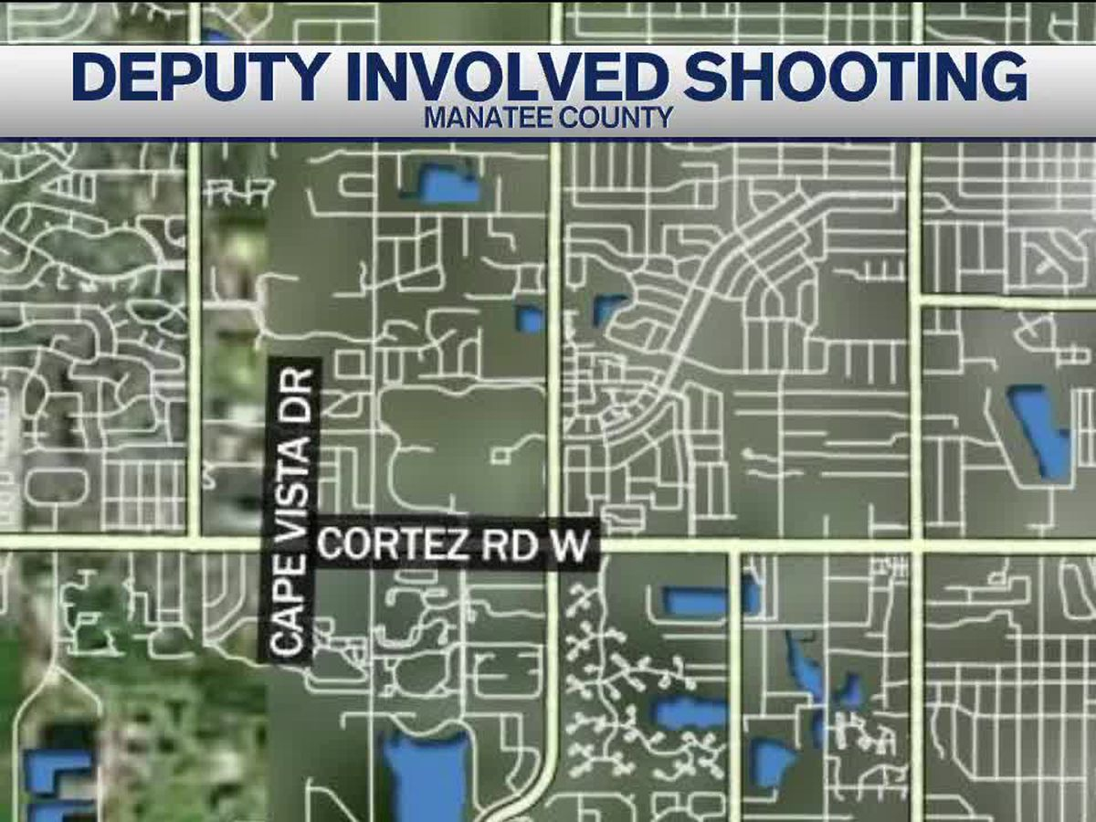 Suspect dies after being shot by deputy in Manatee County