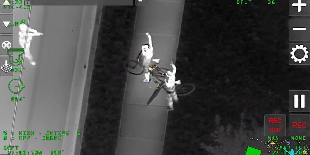Deputies: Bicyclists flee but helicopter pursues and spots them ditching drugs