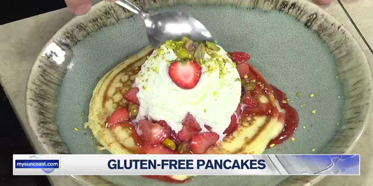 Gluten-Free Pancakes, Strawberry and Pistachio