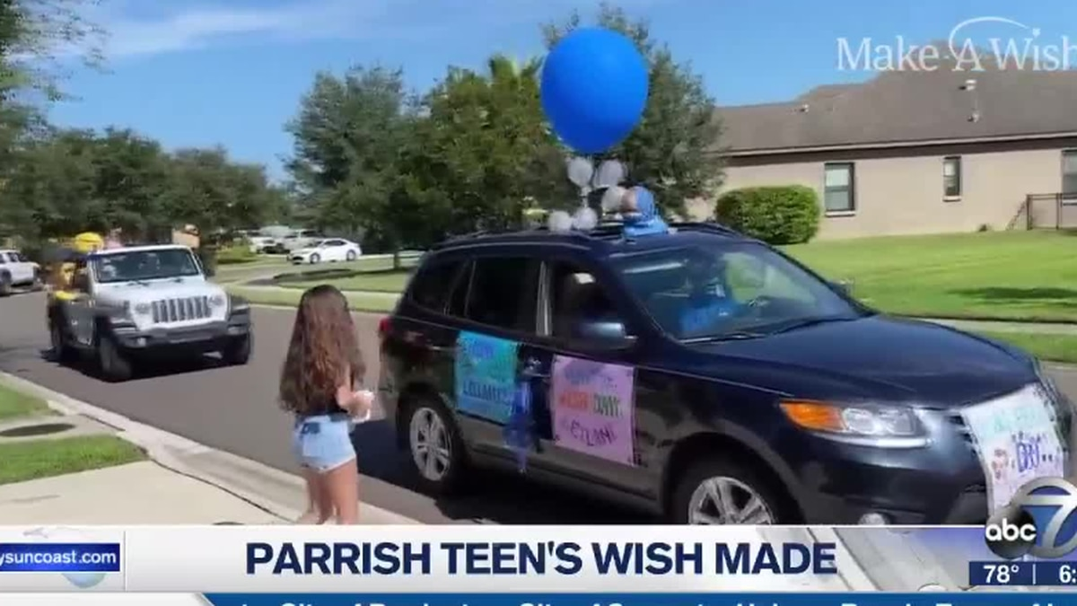 "A Parrish teen living with Cystic Fibrosis gets her wish ""granted"""