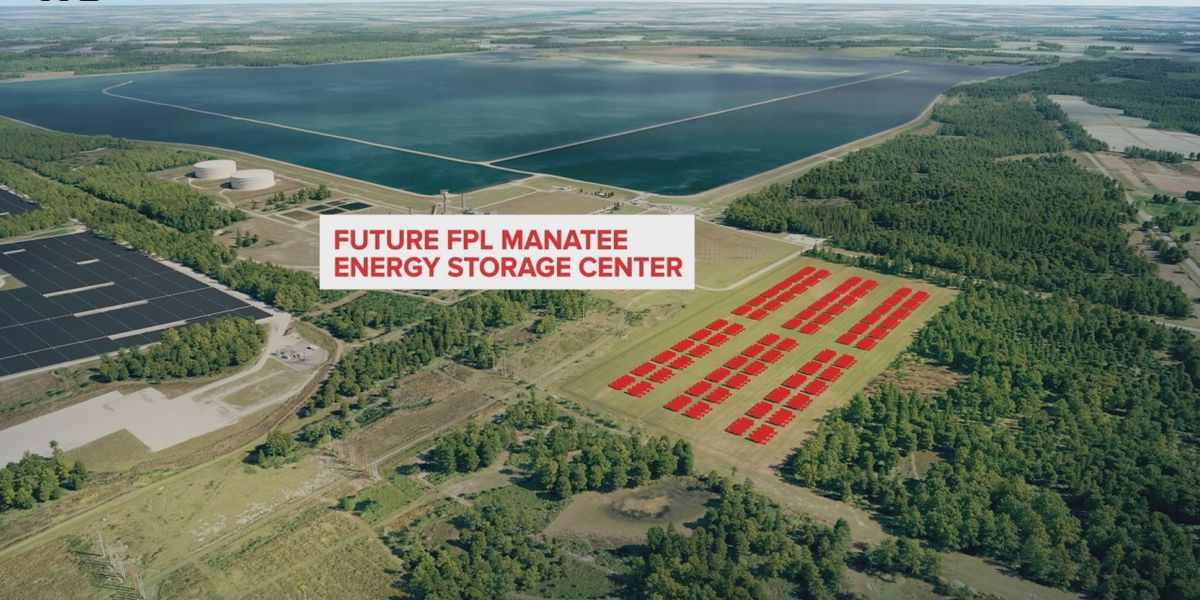 World's largest solar battery under construction in Manatee County