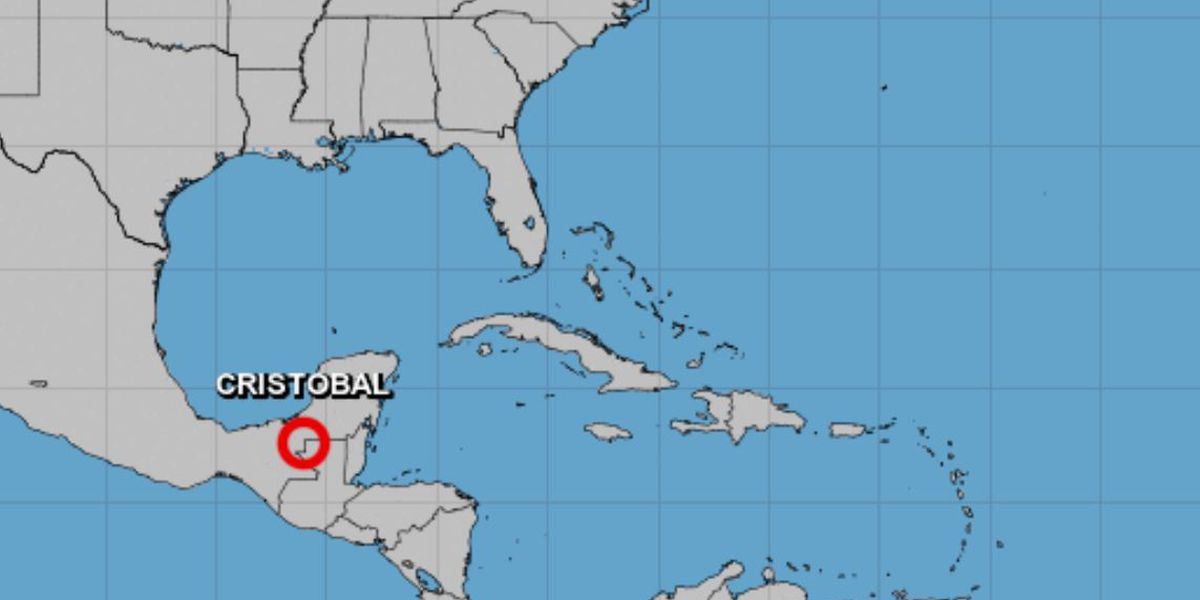 Tropical Storm Cristobal drenching Mexico's Gulf coast