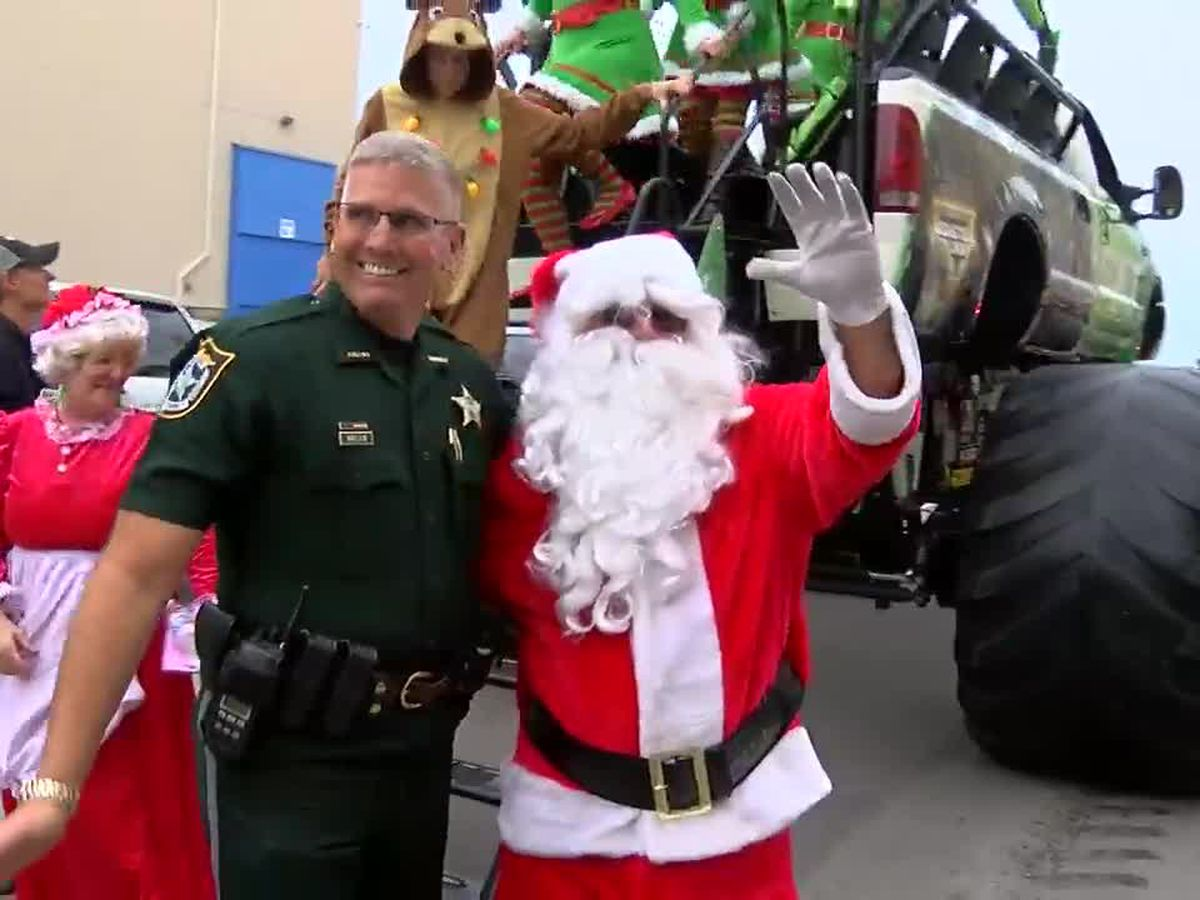 Sick, disabled children walk into winter wonderland and meet Santa on the Suncoast