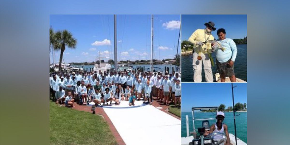 Children spend first time on a boat with law enforcement Saturday in Venice