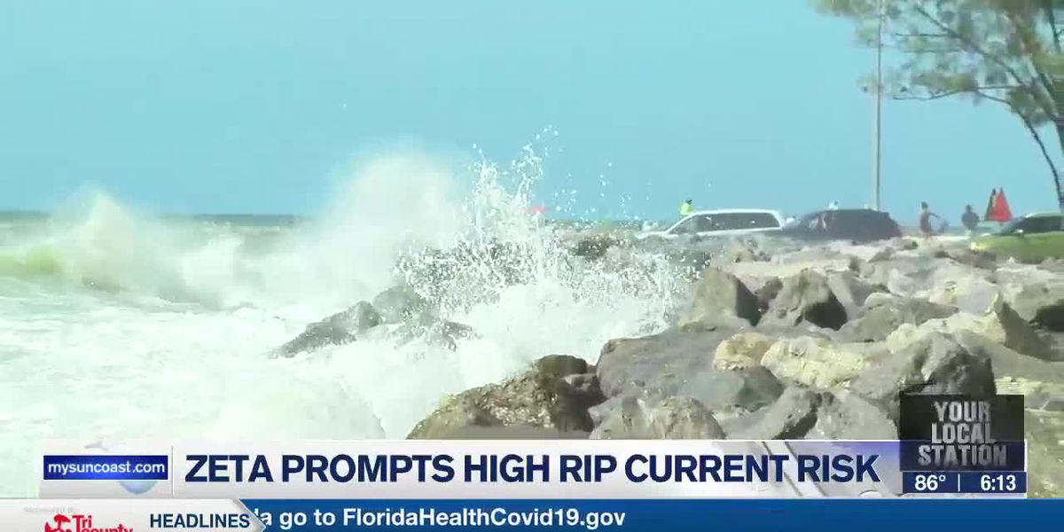 Swells from Zeta creating a high risk for rip currents tomorrow and possibly Friday