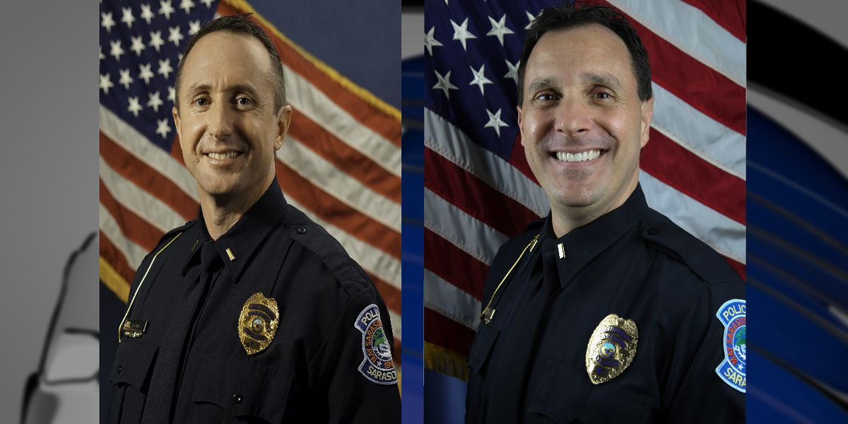 Sarasota PD promotes two Lieutenants to the rank of Captain