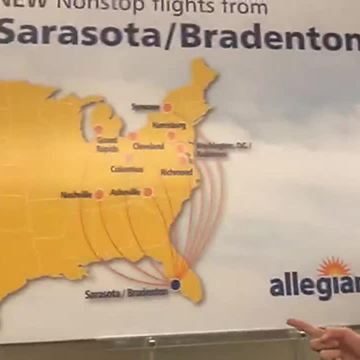 Allegiant Airlines offering nine new nonstop flights